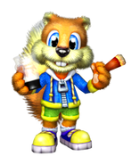 Conker the Squirrel (Conker's Bad Fur Day) as Slinky
