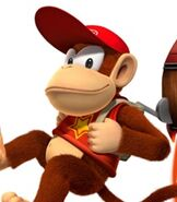 Diddy Kong in Donkey Kong Country Returns
