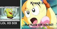Fumu Angry at Spongebob