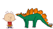 Stanley Griff Meets Stegosaurus