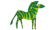 Beast Boy as a Plains Zebra