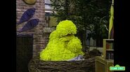 Big Bird goes to sleep after giving pep energy tips