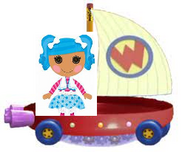 Mittens Fluff 'N' Stuff Riding the Wonder Pets Flyboat