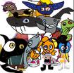Wally, Norville and Bobgoblin, Libby, Gina, Doug, Sabrina, Ami and Yumi as Sea Creatures