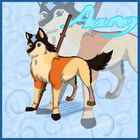 Aang as a Wolf