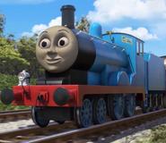 Edward the blue engine as Sean Connery's James Bond