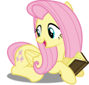 Fluttershy reading