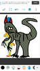 Marge Simpson as Allosaurus