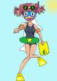 NatsumiHinatawithherswimgear