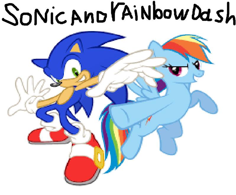 Sonic the Hedgehog and Rainbow Dash