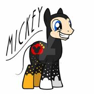 Mickey Mouse as a Pony