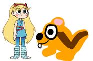 Star meets Least Chipmunk
