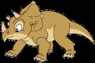 Young Triceratops thetarbosaurusguard