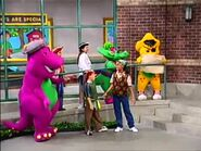 Barney and his friends as pirates