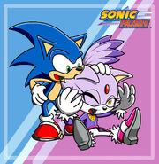 Sonic and blaze in sonic rush