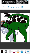 Mama Mirabelle as Stegosaurus