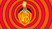 Bart Simpson on a WB Shield