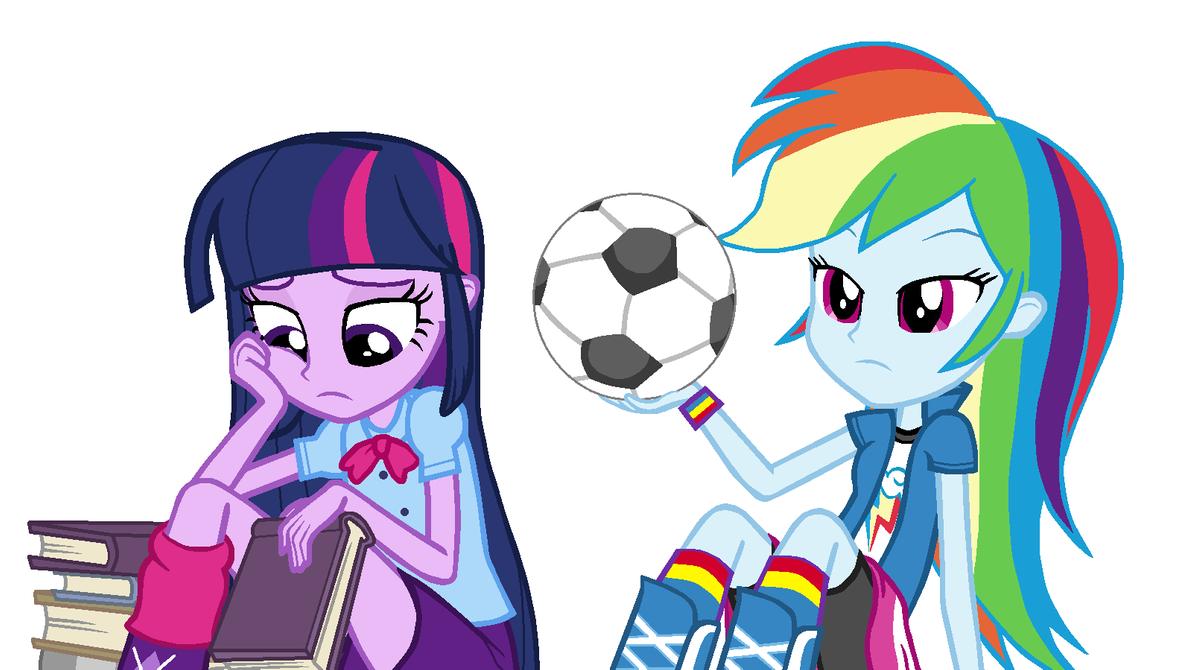Rainbow Dash and Twilight Sparkle (EG)