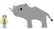 Star meets South Central Black Rhinoceros