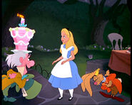 The Unbirthday Song Mad Hatter Alice March Hare and Dormouse