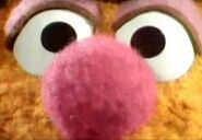 A close-up of Fozzie's eyes and nose for an intro of The Muppet Show's Bear On Patrol segment