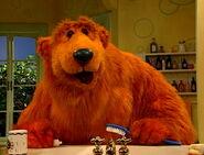 Bear Brushing His Teeth