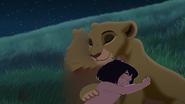 Mowgli hugs kiara