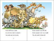 Noah's Ark Elephants Zebras Giraffes Bluebirds Hyraxes Raccoons Coatis Rats Mice Okapis Rabbits Hares Jackrabbits Cattles Owls Hawks Falcons Eagles Thrushes Oxen Bunnys Cats Bonobos Monkeys Chimps Robins and Wrens