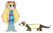Star meets Domestic Ferret