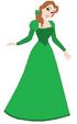 Belle wears Green