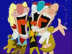 Tex Avery, Genghis and Pompeii Pete with their Heads Thrown Back