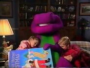 Barney, Micheal and Amy fall asleep at the end of Waiting for Santa