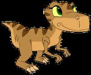 Fiona as infant thetarbosaurusguard
