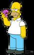 Homer eating donut