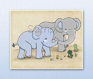 Noah's Ark Elephants and Frogs