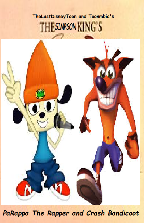 PaRappa The Rapper and Crash Bandicoot (TheLastDisneyToon and Toonmbia Style) (Version 2)