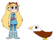 Star meets Bald Eagle