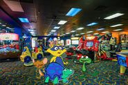 Dewitt and his friends at the Coco Key Water Resort Arcade