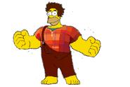 Homer Simpson as Wreck-It Ralph