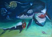 Liopleurodon kill the shark