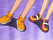 Misty and May's sneaker-clad feet - sockless by ChipmunkRaccoonOz on DeviantArt