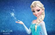 Snow queen elsa in frozen-wide