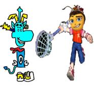 Thomas as Rayman and Spike as Barry B. Benson.