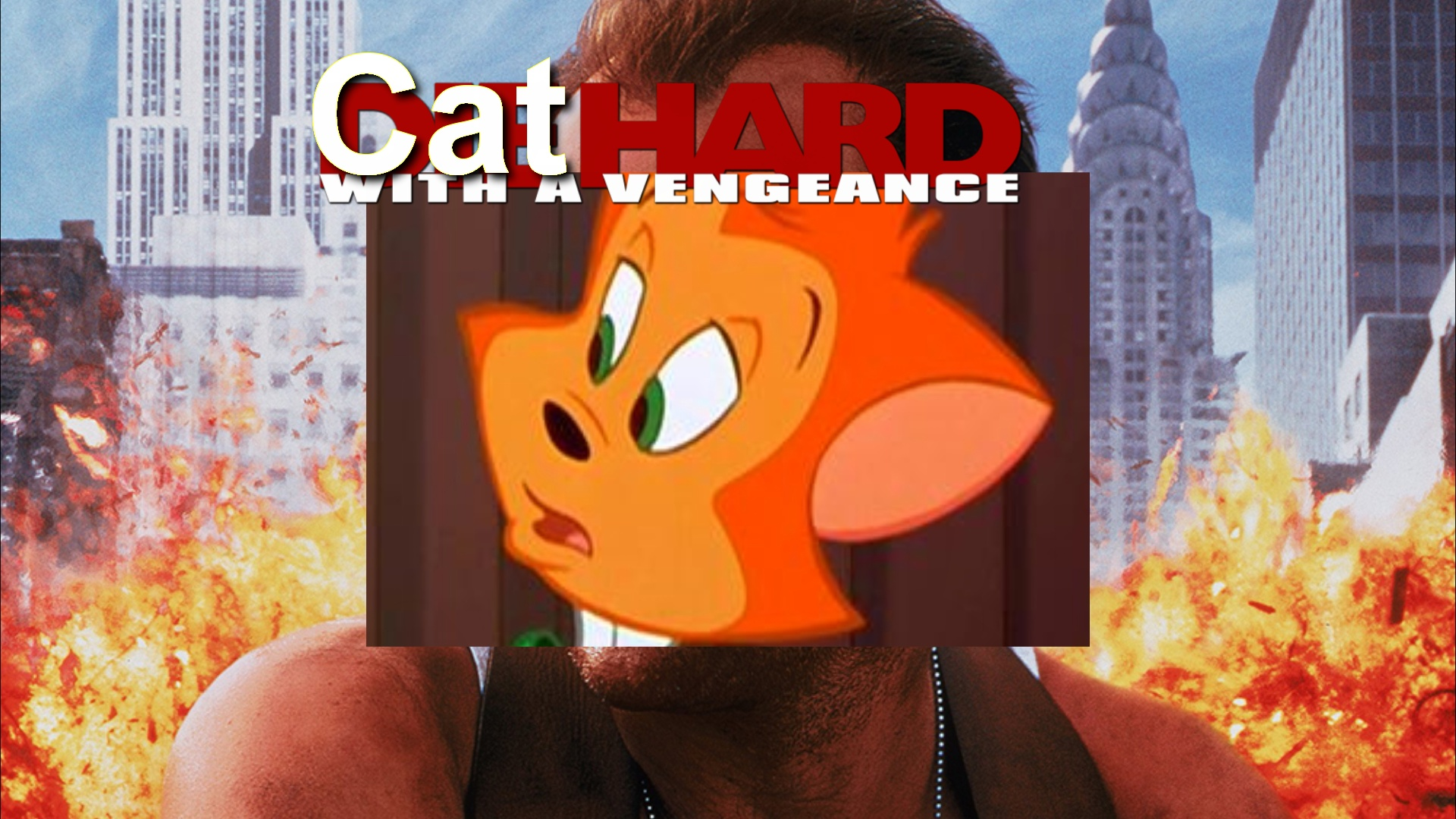Cat Hard With A Vengeance (CoolZDane Animal Style) Poster.jpeg