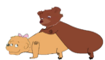 Hippo Little Bear Matting with Sister Bear