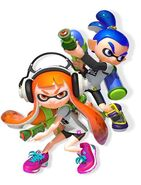 Inkling Girl and Inkling Boy