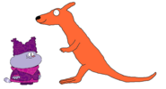 Chowder meets Red Kangaroo