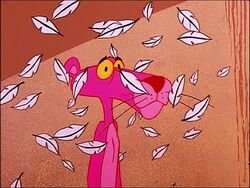 Depressed pink panther with feathers fluttering.jpg