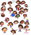 Dora's Possible Cartoonish Faces