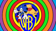 Sonic and Pooh on WB Shield
